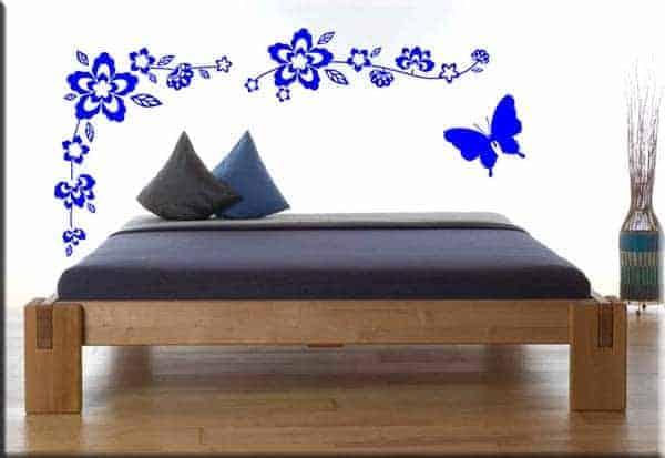 adesivi da parete fiori farfalla arredo design