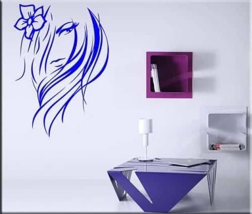 adesivi murali viso donna stilizzato