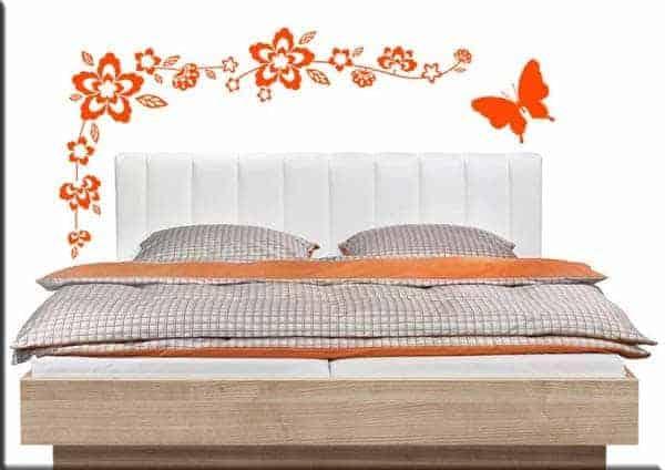wall stickers fiori farfalla arredo design