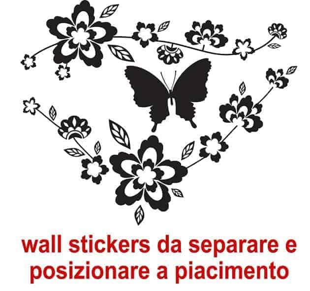wall-stickers-fiori-farfalla-design