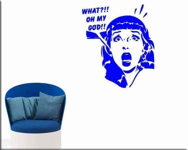 Adesivi da parete donna pop art arredo