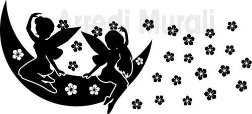 Adesivi da parete flower and fairy cameretta bimba