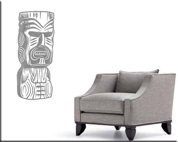 Adesivi da parete totem Moai statue arredo