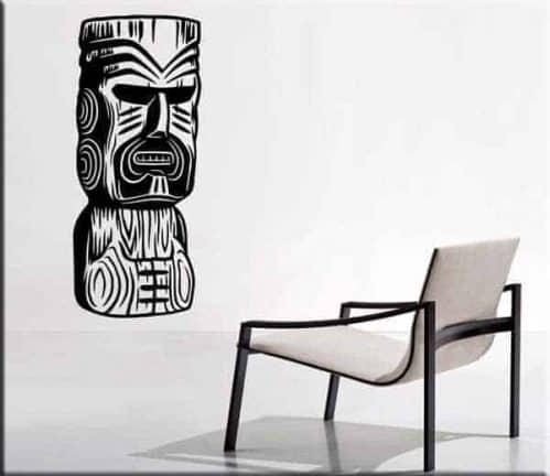Adesivi murali totem Moai statue arredo