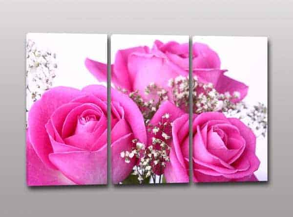 Quadri moderni fiori rose stampa tela arredo