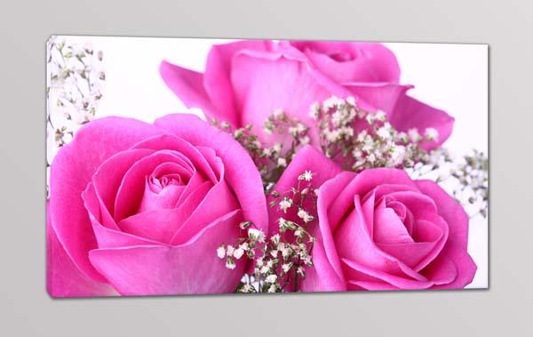 Quadro moderno fiori rose stampa tela arredo