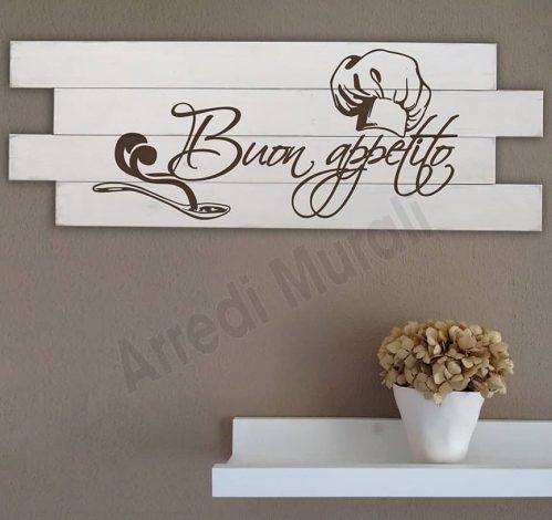 Shabby chic style pannelli murali in legno cucina