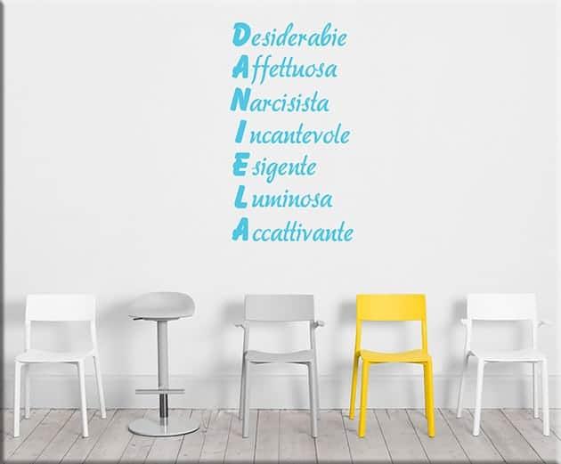 adesivi-da-parete-acrostico-nome-personalizzato