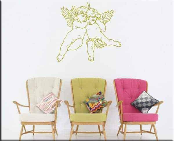 adesivi da parete cherubini angeli arte arredo