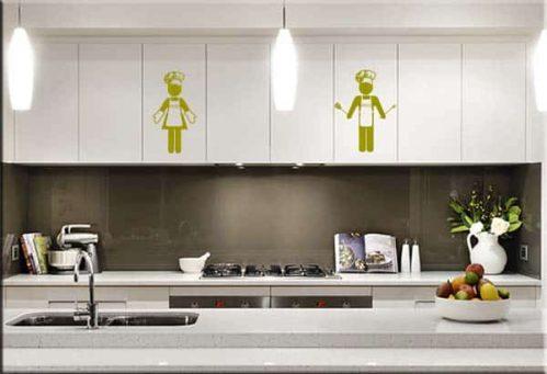 adesivi da parete cuochi personalizzati uomo donna