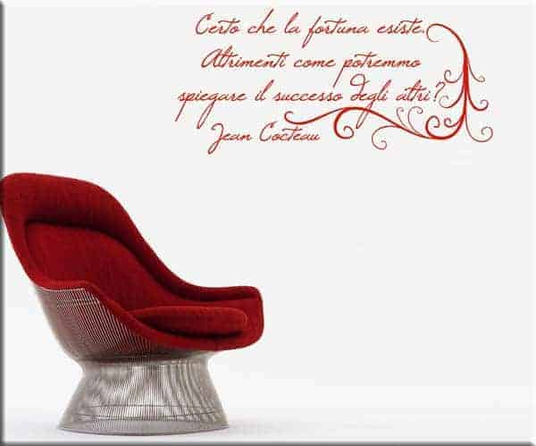 adesivi da parete frase Jean Cocteau arredo