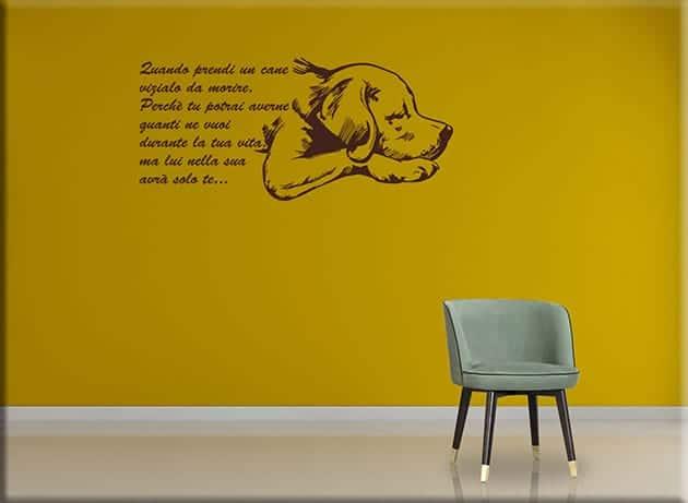 Adesivi murali frase quando prendi un cane - Stickers da parete personalizzati ...