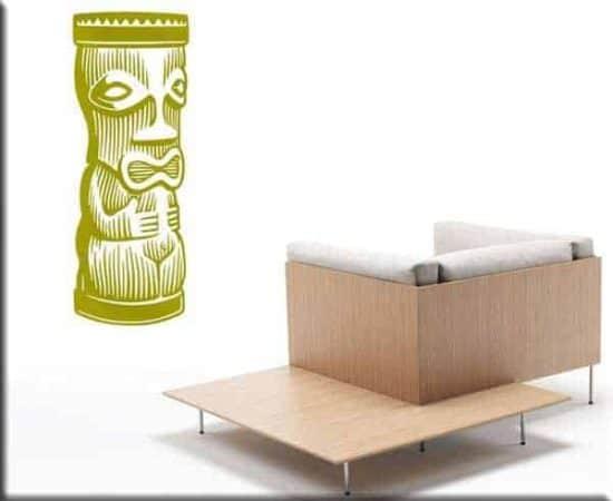 adesivi da parete moai totem statue arredo