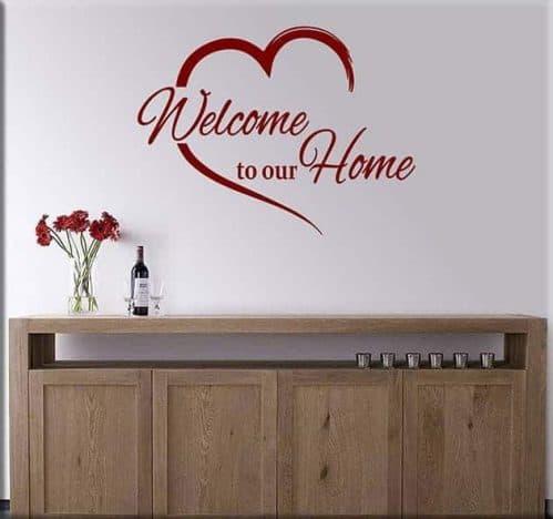 adesivi da parete welcome to our home