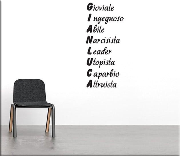 adesivi-murali-acrostico-nome-personalizzato
