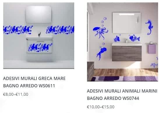 adesivi murali bagno