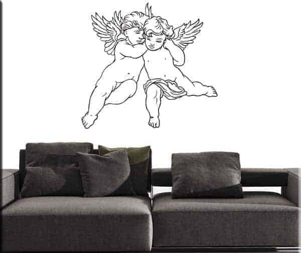 adesivi murali cherubini angeli arte arredo