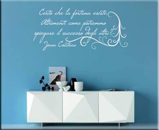 adesivi murali frase Jean Cocteau arredo