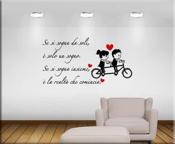 adesivi murali frase sognare insieme