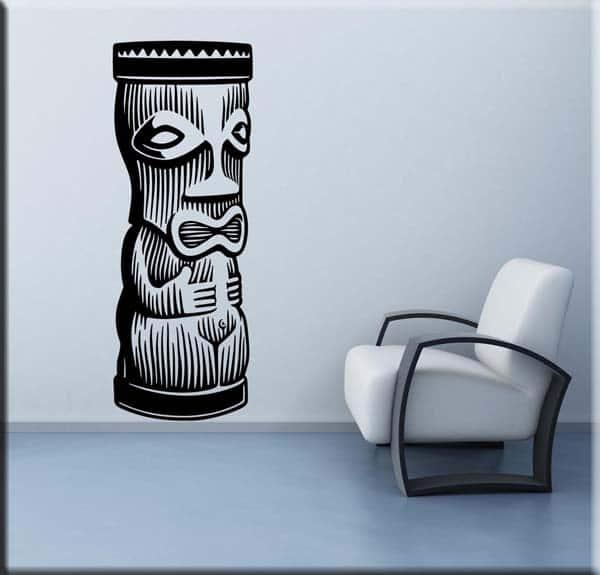 adesivi murali moai totem statue arredo