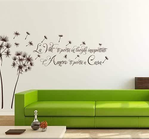 Adesivi murali love un modo particolare per arredare - Adesivi da parete ikea ...