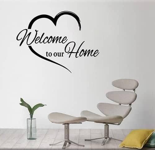 adesivi murali welcome to our home