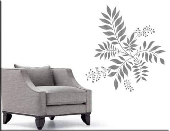 decorazione adesiva murale floreale arredo