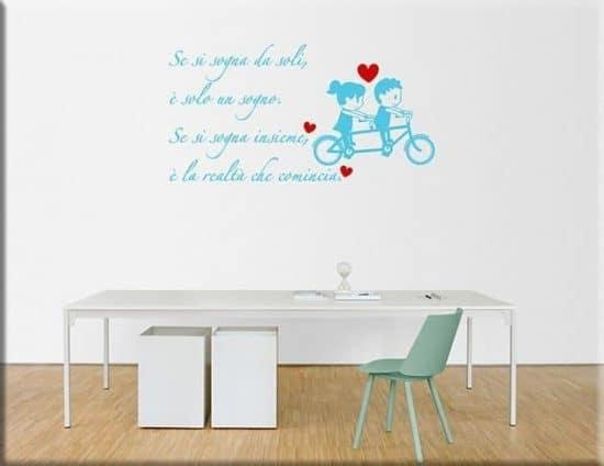 decorazioni da parete frase sognare insieme