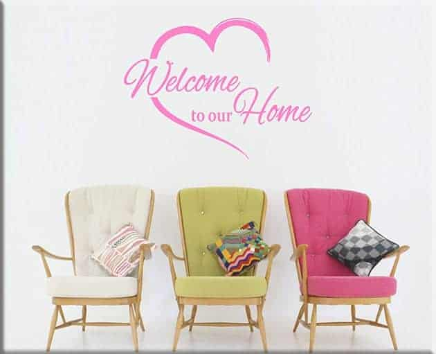 decorazioni da parete welcome to our home