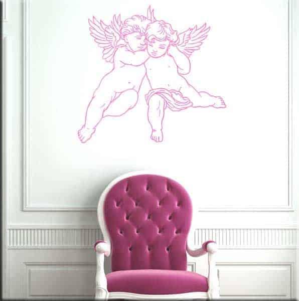 decorazioni murali cherubini angeli arte arredo