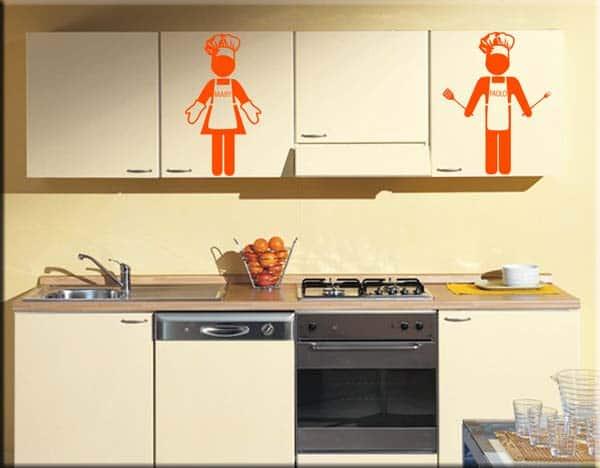 decorazioni murali cuochi personalizzati uomo donna