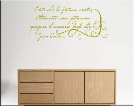 decorazioni murali frase Jean Cocteau arredo