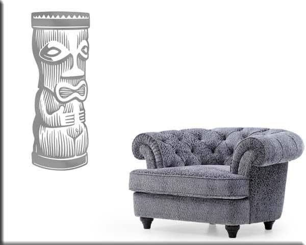 decorazioni murali moai totem statue arredo