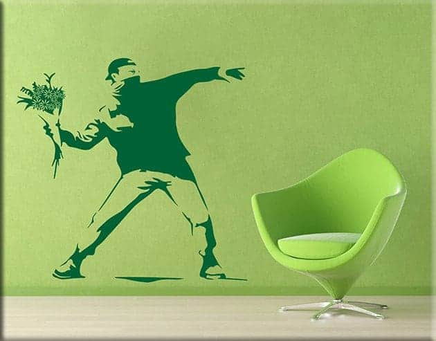 wall stickers Banksy Flower Thrower arte