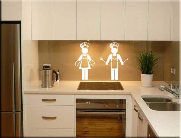 wall stickers cuochi personalizzati uomo donna