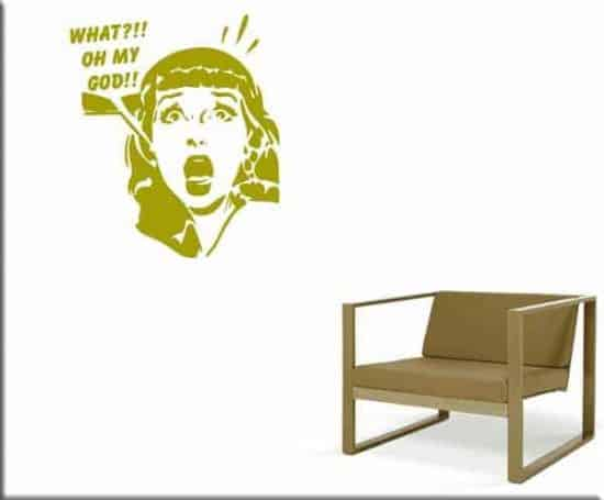 wall stickers donna pop art arredo