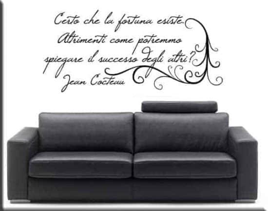 wall stickers frase Jean Cocteau arredo