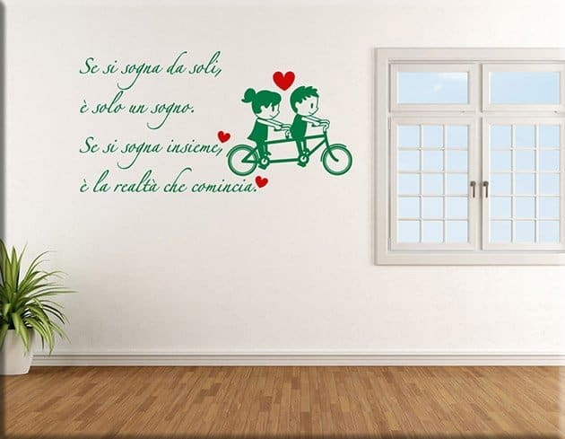 wall stickers frase sognare insieme