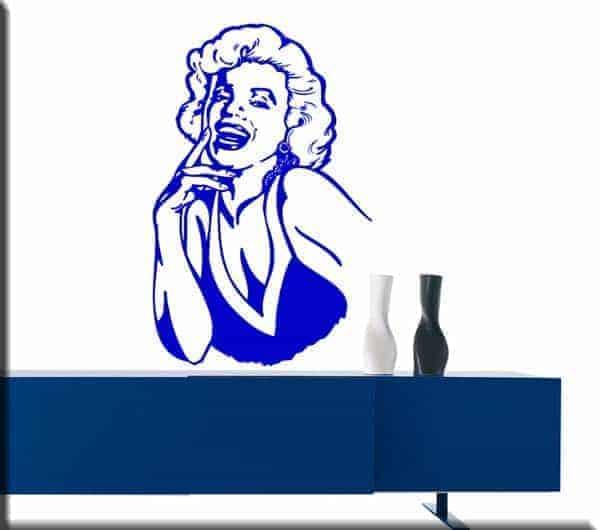 adesivi da parete volto Marilyn Monroe arredo