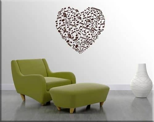 adesivi murali note love music arredo