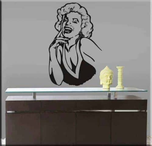 adesivi murali volto Marilyn Monroe arredo