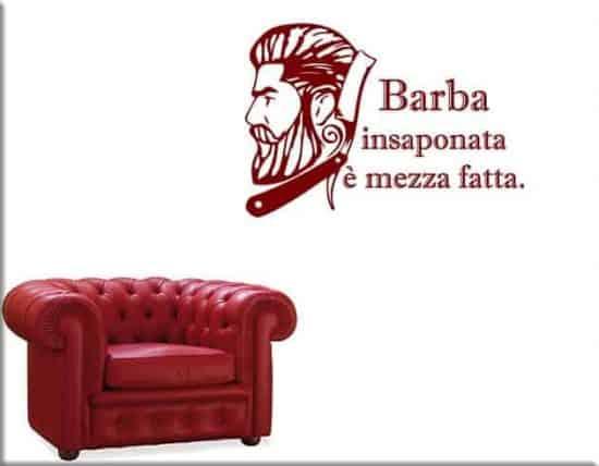 decorazioni da parete frase barbiere arredo