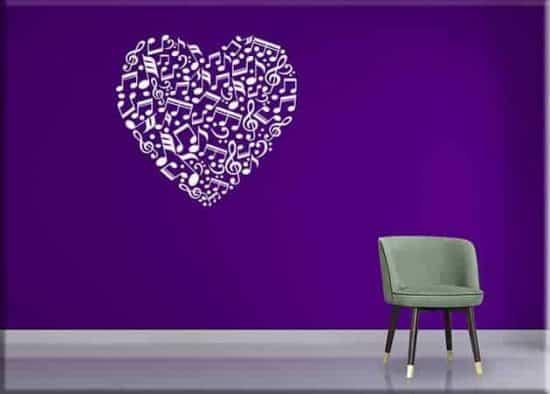 decorazioni murali note love music arredo