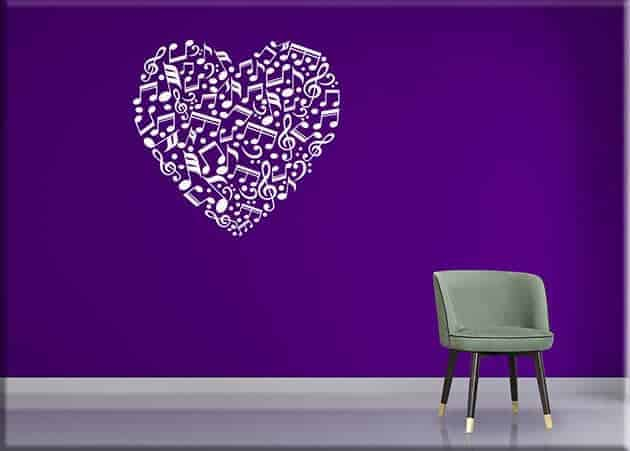 decorazioni murali note love music arredo
