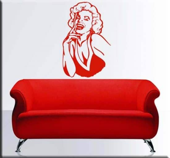 wall stickers volto Marilyn Monroe arredo