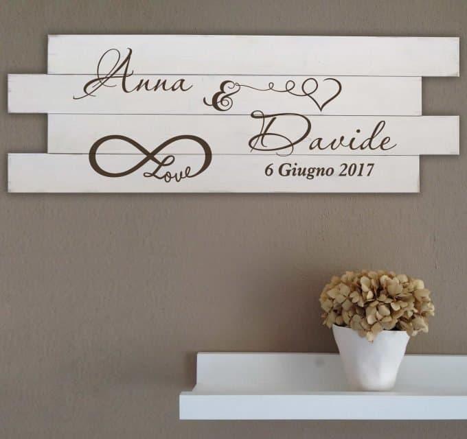 Shabby chic pannelli da parete in legno personalizzati