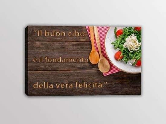 quadro moderno frase arredo cucina