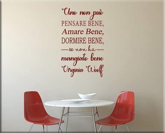 wall stickers frase Virginia Woolf arredo