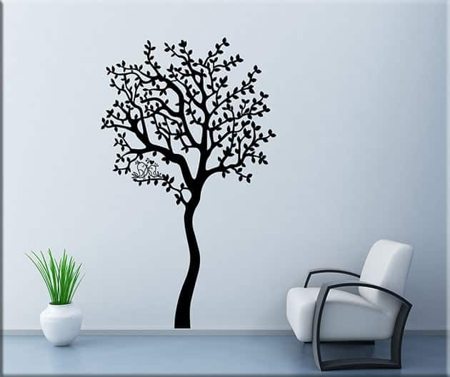 Adesivi da parete albero love arredo