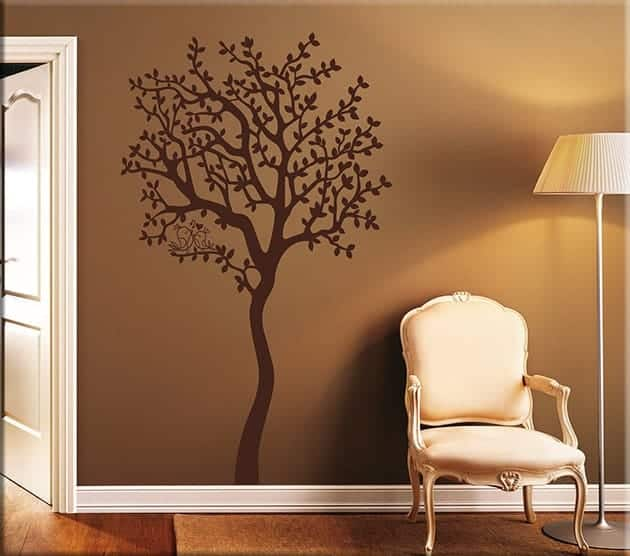 Adesivi murali albero love arredo